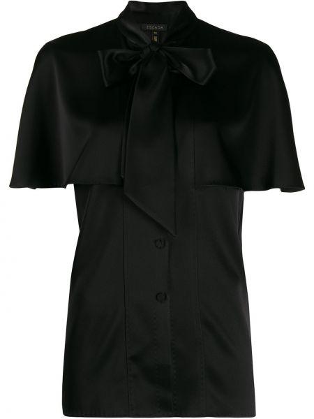 Czarna bluzka krótki rękaw Escada