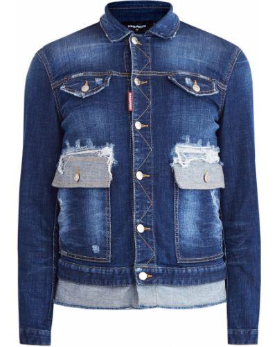 Мужские джинсовые куртки Dsquared2 (Дискваред) - купить в интернет ... d8b32a72f62c1