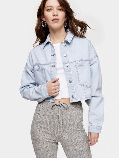 Джинсовая куртка - голубая Topshop