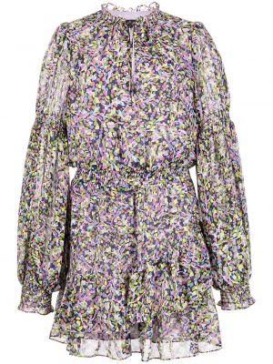 Фиолетовое платье макси в цветочный принт Ted Baker