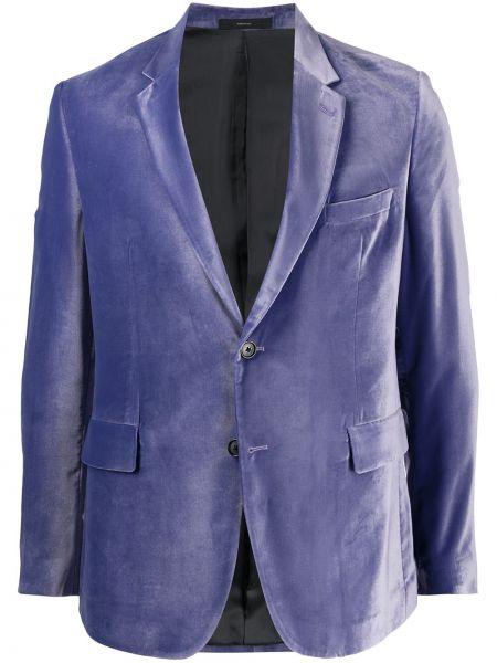 С рукавами бархатный удлиненный пиджак с карманами Paul Smith