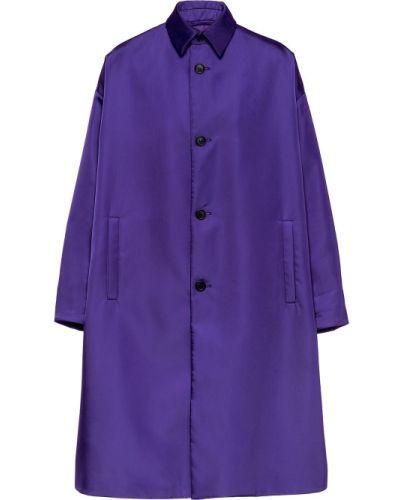 Płaszcz przeciwdeszczowy - fioletowy Prada