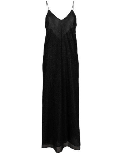 Шелковое платье макси - черное Oseree