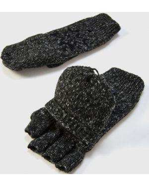 Серые перчатки жаккардовые Ostin