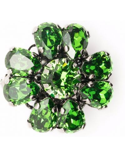 Zielona broszka srebrna Etro