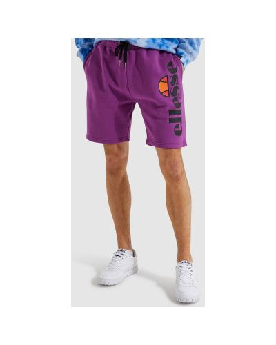 Фиолетовые хлопковые спортивные шорты Ellesse
