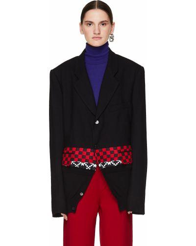 Шерстяной пиджак с вышивкой на пуговицах с карманами Haider Ackermann