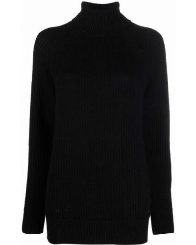 Черный джемпер длинный Woolrich