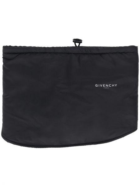 С кулиской черный шарф хомут в рубчик Givenchy