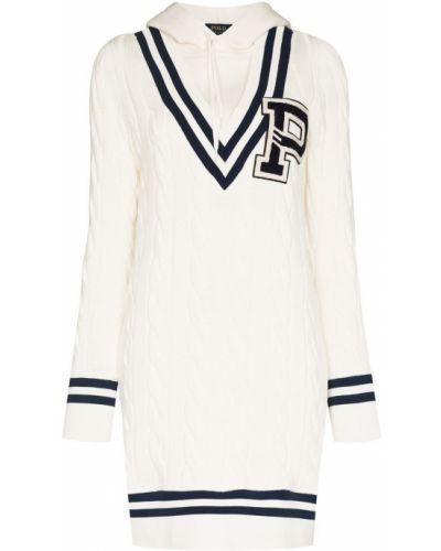 Шерстяное платье макси - белое Polo Ralph Lauren