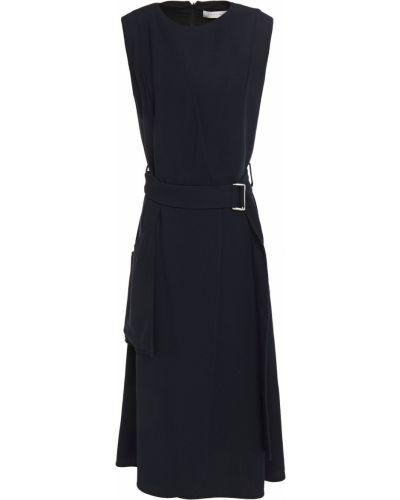 Sukienka midi kopertowa z paskiem z wiskozy Victoria Beckham