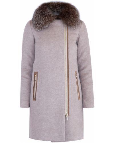 Пальто на молнии шерстяное Moorer