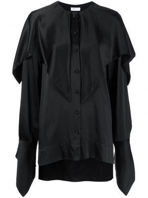 Шелковая рубашка - черная Rosetta Getty