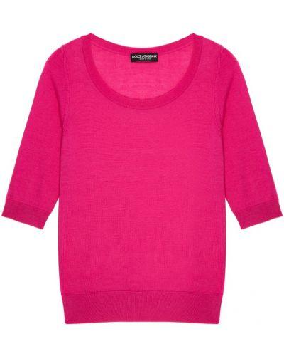 Розовый джемпер свободного кроя Dolce&gabbana