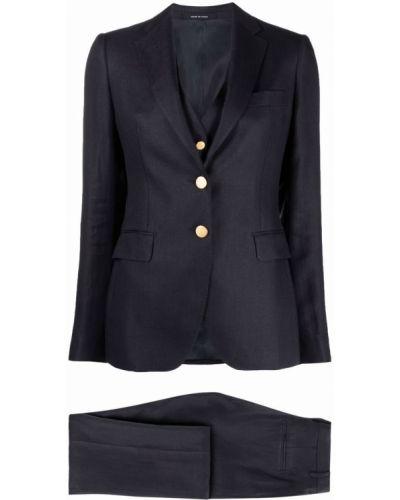 Złoty niebieski garnitur z paskiem Tagliatore