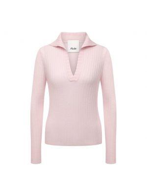 Трикотажный пуловер - розовый Allude