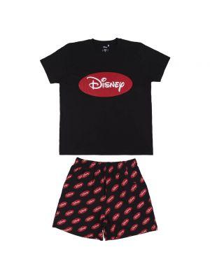 Czarna piżama bawełniana Disney