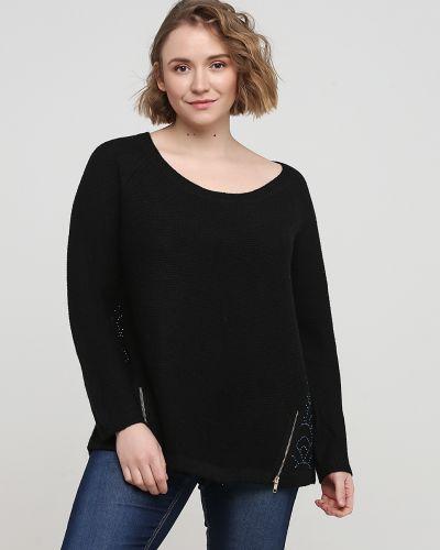 Свободный черный свитер свободного кроя Kookai
