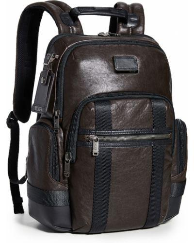 С ремешком коричневый рюкзак для ноутбука из натуральной кожи Tumi