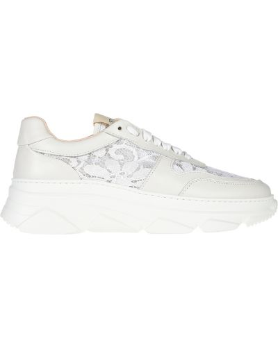 Кроссовки на платформе белый Stokton
