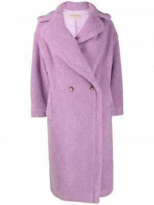 Fioletowy płaszcz oversize Blanca Vita