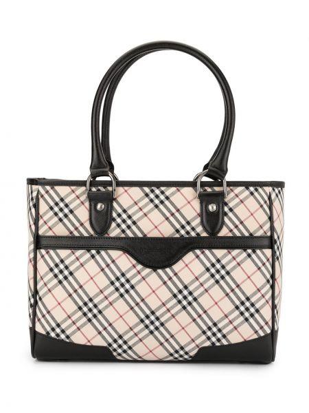 Классическая парусиновая сумка-тоут круглая на молнии Burberry Pre-owned
