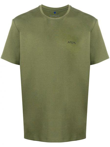 Bawełna prosto koszula z krótkim rękawem khaki krótkie rękawy Ader Error