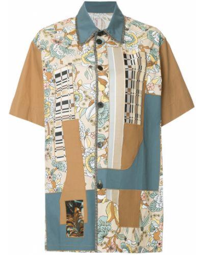 Рубашка хлопковая коричневый Antonio Marras
