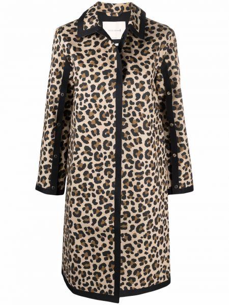 Коричневое пальто леопардовое Mackintosh