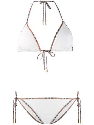 Biały bikini vintage Burberry