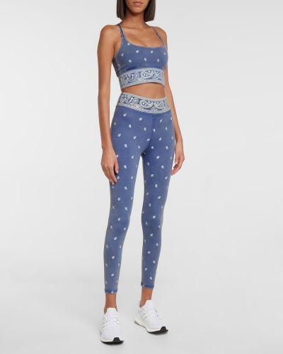 Niebieskie spodnie z nylonu Adam Selman Sport