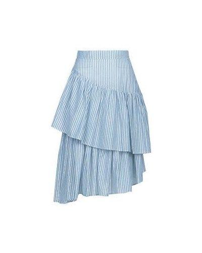 Хлопковая юбка миди - голубая Marco Bologna