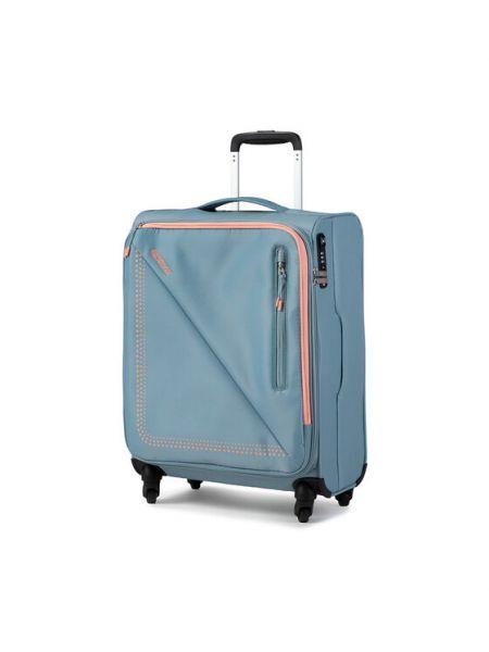 Niebieska walizka materiałowa American Tourister
