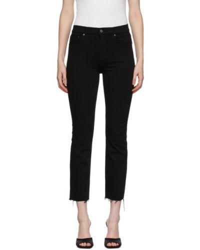 Зауженные черные джинсы-скинни стрейч с манжетами Grlfrnd