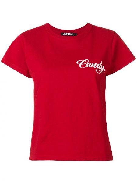 T-shirt bawełniany krótki rękaw z printem Adaptation