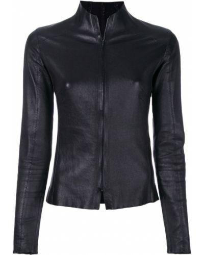 Прямая черная кожаная куртка на молнии Vanderwilt