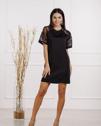 Черное платье мини Azuri