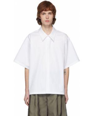 Koszula krótkie z krótkim rękawem z kołnierzem z popeliny Maison Margiela