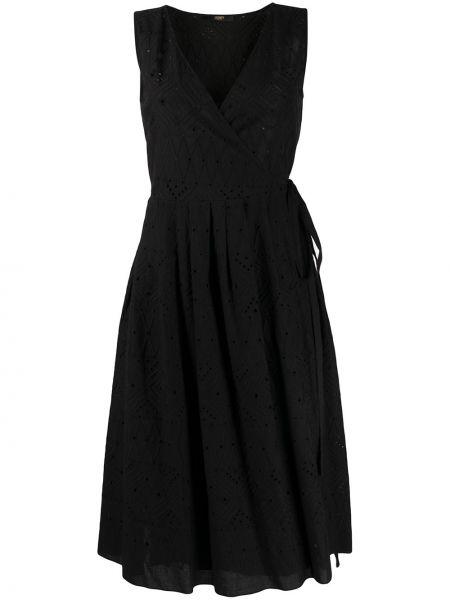 Платье миди с запахом с вышивкой Seventy