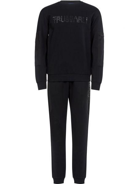 Хлопковый спортивный костюм - черный Trussardi Jeans
