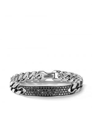 Łańcuch ze srebra srebrny z diamentem David Yurman