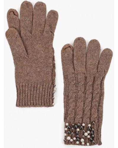 Коричневые перчатки текстильные Keddo