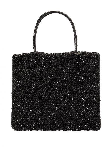 Черная сумка-тоут круглая Anteprima