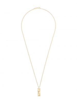 Złoty naszyjnik - szary Northskull