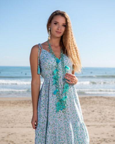 Пляжное сарафан - голубое Anastasea