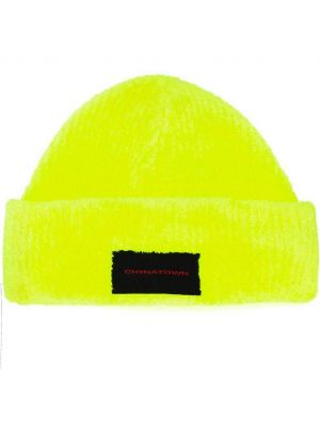 Prążkowana żółta czapka Alexander Wang