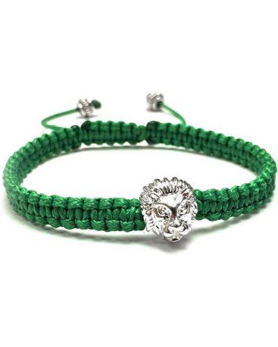 Браслет из серебра зеленый Mr.jones