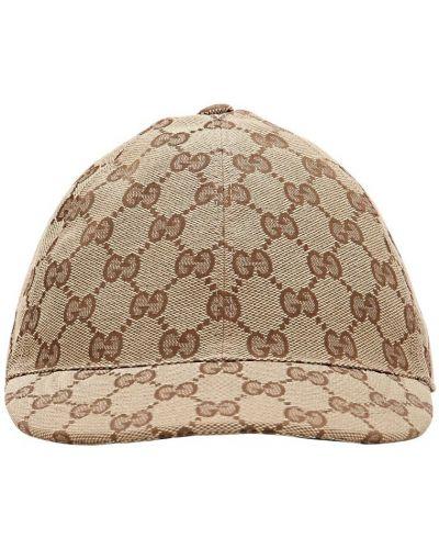 Bawełna beżowy bawełna kapelusz elastyczny Gucci