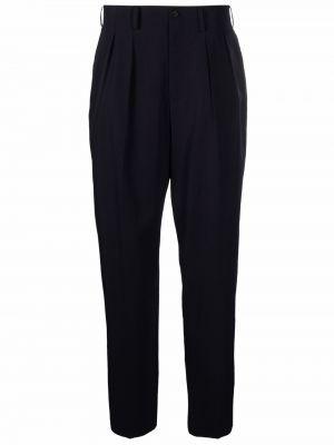 Niebieskie spodnie wełniane Yohji Yamamoto