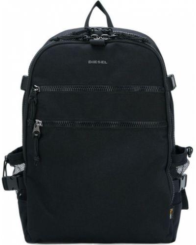 Рюкзак для ноутбука черный на молнии Diesel
